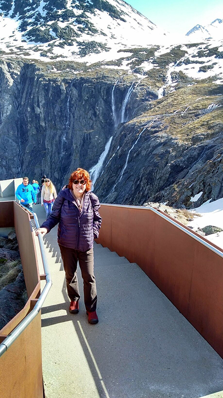 Susan at Trollstiggen