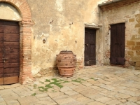 jug in courtyard